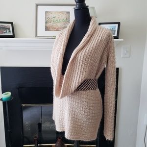 Ann Taylor Tan Scoop Neck Pullover Sweater